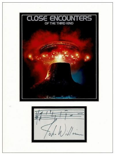 John Williams Autograph Music Quote - Close Encounters Of The Third Kind